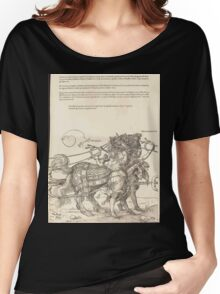 Albrecht Dürer or Durer The Triumphal Chariot of Maximilian I The Great Triumphal Car plate 7 of 8 Women's Relaxed Fit T-Shirt