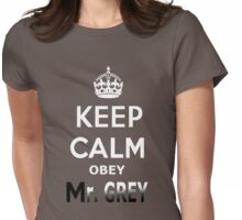 Keep Calm Obey Mr. Grey Womens Fitted T-Shirt