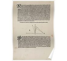 Measurement With Compass Line Leveling Albrecht Dürer or Durer 1525 0012 Rays Poster