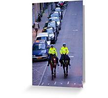 Equestrian Cops Greeting Card