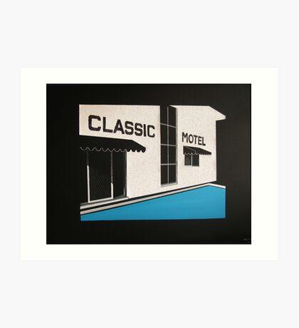 Classic Motel Art Print