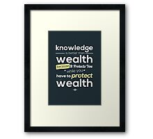 Muslim's Quote - Knowledge Framed Print