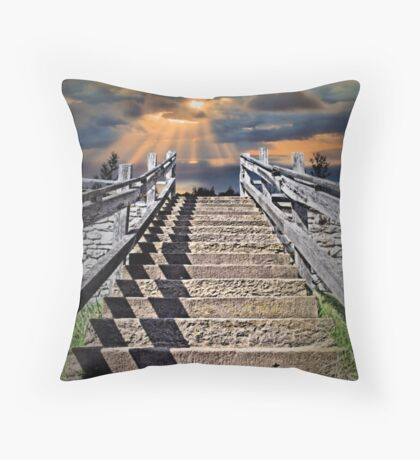 Stairway To Paradise Throw Pillow
