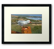Back off it's mine! Framed Print