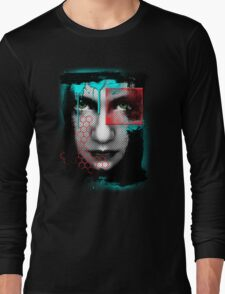 A Girl... An abstract reflection. Long Sleeve T-Shirt