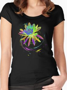 Psychedelic Flower  Women's Fitted Scoop T-Shirt