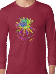 Psychedelic Tropical Flower  Long Sleeve T-Shirt