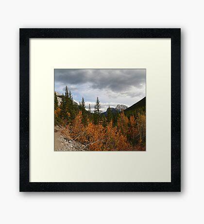 Autumnal mountains Framed Print