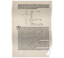 Measurement With Compass Line Leveling Albrecht Dürer or Durer 1525 0164 Repeating and Folding Shapes Poster
