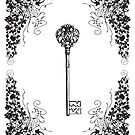 Vintage Key Design #1 by Heather Davis