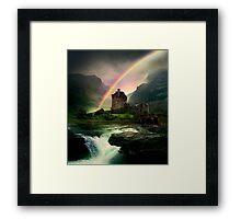 Rainbow Valley Castle Framed Print