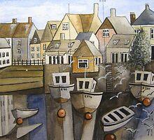 Devon estuary town by lindab1952