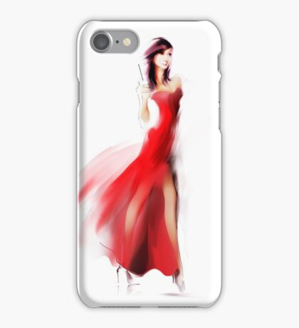Beautiful fashionable woman in dress iPhone Case/Skin