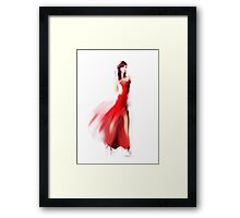 Beautiful fashionable woman in dress Framed Print