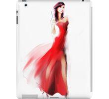 Beautiful fashionable woman in dress iPad Case/Skin