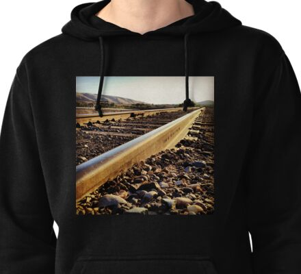 Sunshine Hits the Endless Train Tracks Pullover Hoodie