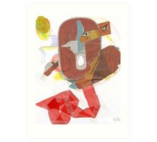Flying with Chicken Little Art Print