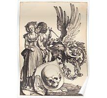 Albrecht Dürer or Durer Coat of Arms with a Skull Poster
