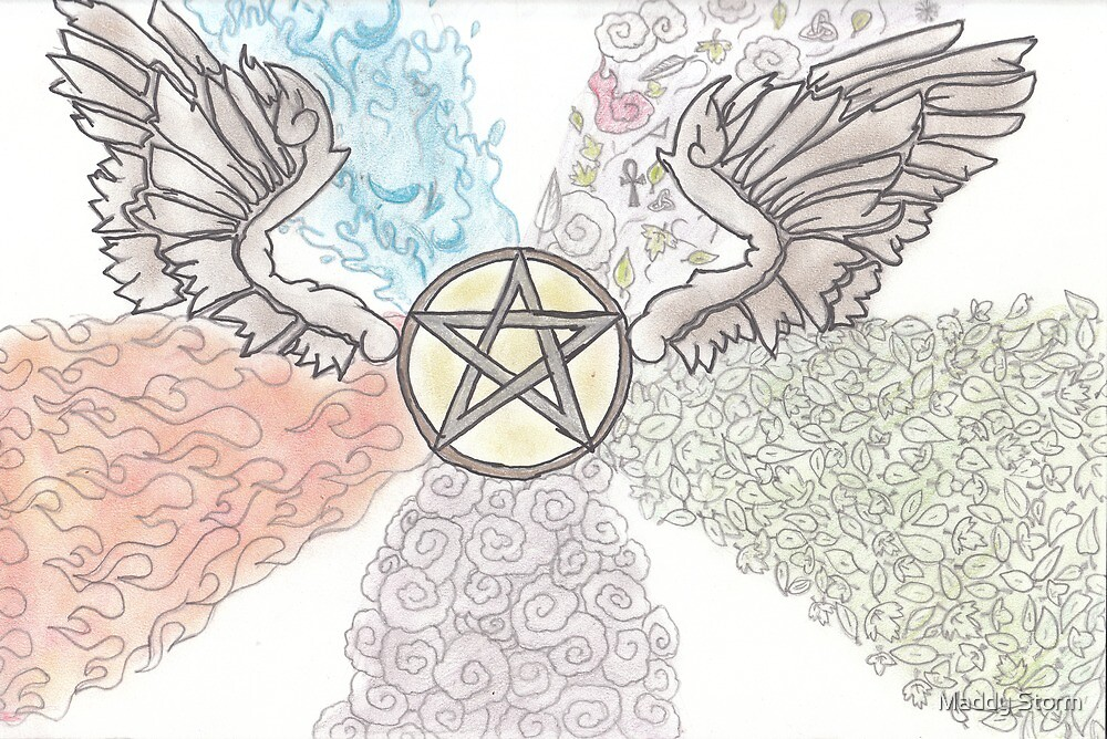 Elemental Winged Pentacle by Maddy Storm