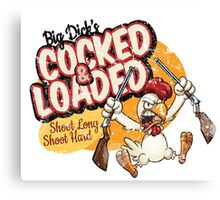 cocked and Loaded T shirt Canvas Print