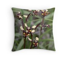 Common Donkey Orchid Throw Pillow
