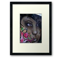Graffiti Girl 2 Framed Print