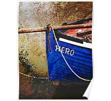Boat in Sandwich harbour, Kent, UK Poster