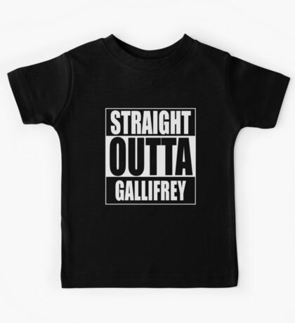 Straight OUTTA Gallifrey - Dr. Who Kids Tee