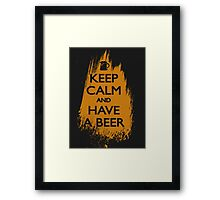 keep calm and have a beer Framed Print
