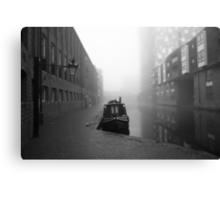 Birmingham Canal in Winter Canvas Print