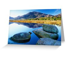 Tidal River Reflection Greeting Card