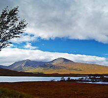 A View Of Rannoch Moor. by Aj Finan