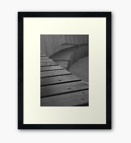 Going round the bend Framed Print