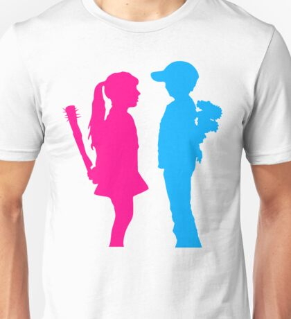 Banksy Inspired Young Couple Unisex T-Shirt