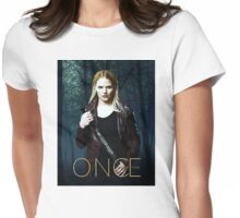 """Emma Swan Comic Poster """"The Dark One"""" Womens Fitted T-Shirt"""