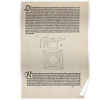 Measurement With Compass Line Leveling Albrecht Dürer or Durer 1525 0089 Repeating Shapes Poster