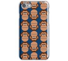 Chimps on Blue Background iPhone Case/Skin