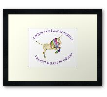 RAINBOW UNICORN Framed Print