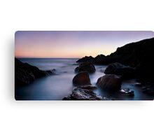 broadsands rocks 3 Canvas Print