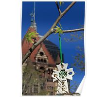 Hope blooms in Copley Square Poster