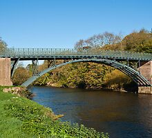 Coalport Bridge as the leaves turn yellow by John Hallett
