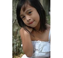 little girl with nice smile expression Photographic Print