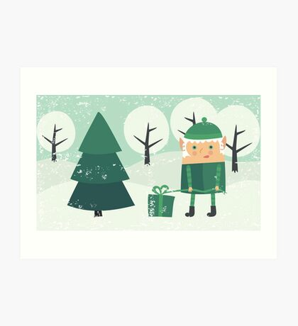 xmas card Art Print