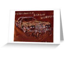 1974 CADILLAC SEDAN DeVille CAR Greeting Card