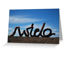 Wide Greeting Card