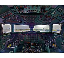 DC7B Cockpit Photographic Print