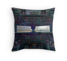 DC7B Cockpit Throw Pillow