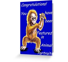Animal Portraits banner challenge Greeting Card
