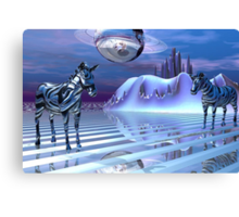 A Zebra's Alternate Reality Canvas Print
