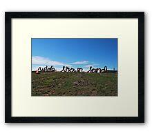 Wide Brown Land Framed Print